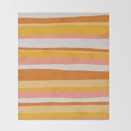 sedona, desert stripes Throw Blanket