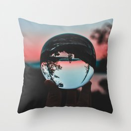 The Crystal Sunset (Color) Throw Pillow