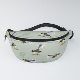Fantail Bird Pattern Fanny Pack