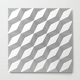 Bendy Lines Metal Print