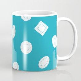 Blue Moissy Gem Pattern Coffee Mug