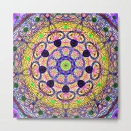 Mandala Energy Metal Print