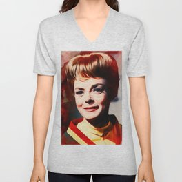 June Lockhart, Vintage Actress Unisex V-Neck