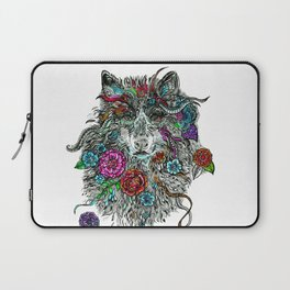 Floral Wolf. Laptop Sleeve