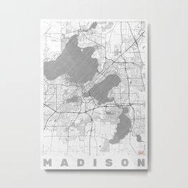 Madison Map Line Metal Print