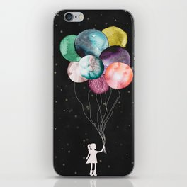 Little girl with balloons iPhone Skin