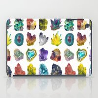 crystals iPad Cases featuring Crystals by ShannonPosedenti