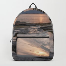 Pastel tidal pool sunset Backpack