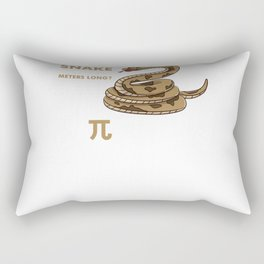 What Do You Call A Snake Thats 3.14 Meters Long Pi Thon For Math Nerds Rectangular Pillow