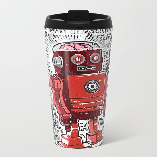 Robot Flux Metal Travel Mug