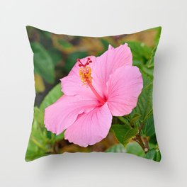 Pink Hibiscus 2 Throw Pillow