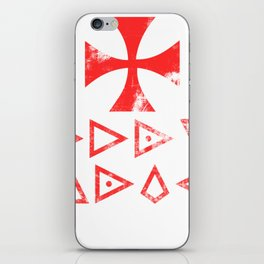 Templar Knight Templar Knight Cross Holy Shield Deus Vult iPhone Skin