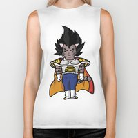 vegeta Biker Tanks featuring Cat Vegeta by Ricardo Melara