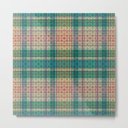 Mild Autumn Plaid Metal Print
