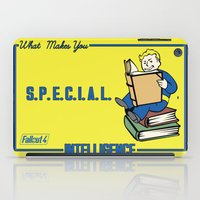 fallout iPad Cases featuring Intelligence S.P.E.C.I.A.L. Fallout 4 by sgrunfo