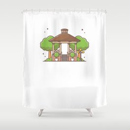 City park gazebo Shower Curtain