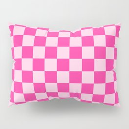 Double Pink Check - more colors Pillow Sham