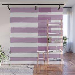 Big Stripes in Purple Wall Mural