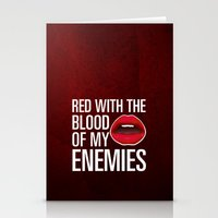 lipstick Stationery Cards featuring Lipstick by Kris Hawkins