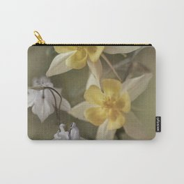 White and yellow columbines Carry-All Pouch