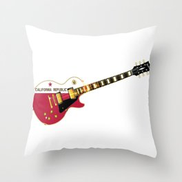 California State Flag Guitar Throw Pillow