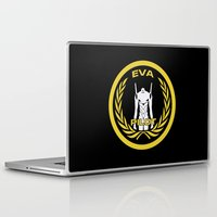 evangelion Laptop & iPad Skins featuring Evangelion Pilot Logo by Artist Meli