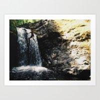 sam in air over water Art Print