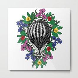 Flower Balloon Metal Print