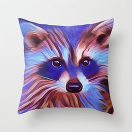 The Raccoon Bandit Throw Pillow