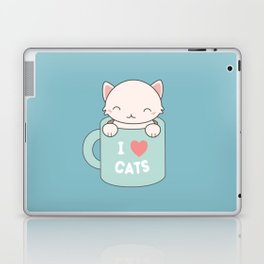 Kawaii Cute I Love Cats Laptop & iPad Skin