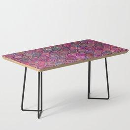N46 - Arteresting Colored Traditional Boho Moroccan Artwork. Coffee Table