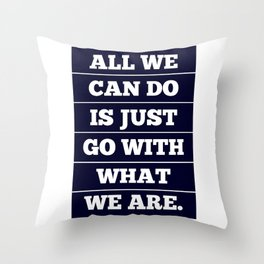 Go With It Throw Pillow
