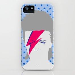 ##Rock n Roll star on blue iPhone Case