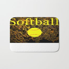 Softball Bath Mat
