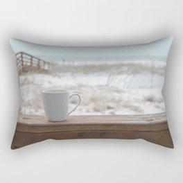 Cuppa at the Beach Rectangular Pillow