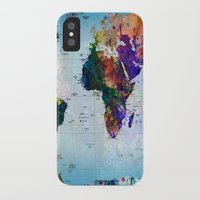 map iPhone & iPod Cases featuring map by mark ashkenazi
