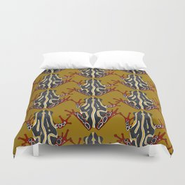 congo tree frog gold Duvet Cover