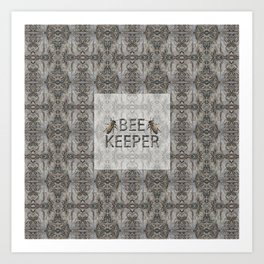 BEE KEEPER Art Print