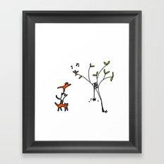 three cats climbing. Framed Art Print