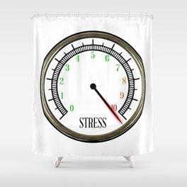 Stress Meter Shower Curtain