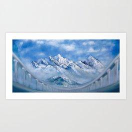 Himalayas. mountain landscape Art Print
