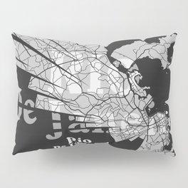 Rio De Janeiro Map Pillow Sham