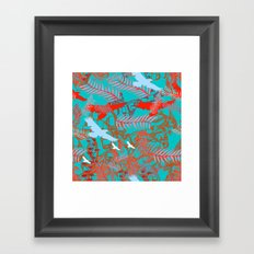 flying birds Framed Art Print