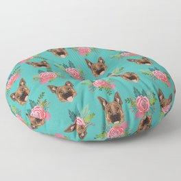 German Shepherd florals bouquet dog breed pet friendly pattern dogs Floor Pillow