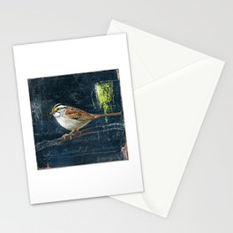 white throated sparow Stationery Cards
