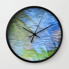 Coastline Mosaic Abstract Art Wall Clock