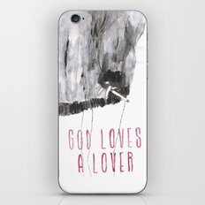 God loves a lover iPhone & iPod Skin
