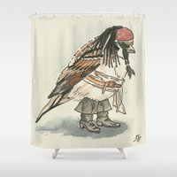 jack sparrow Shower Curtains featuring Captain Jack Sparrow by victorygarlic - Niki