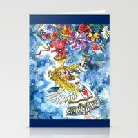 angel Stationery Cards featuring Angel by Shelley Ylst Art