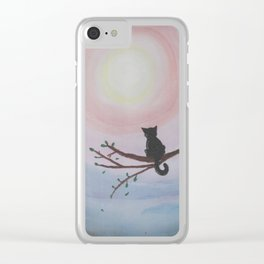 Watching a Hopeful Sunset Clear iPhone Case